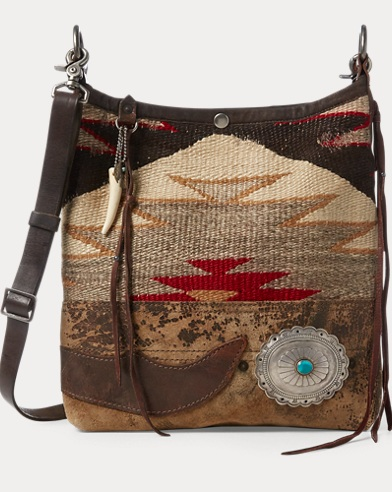 Concho Wool-Leather Hobo Bag