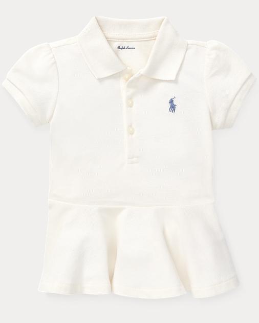 4c0fb203 Baby Girl Cotton Mesh Peplum Polo Shirt 1