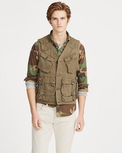Cotton Twill Utility Vest