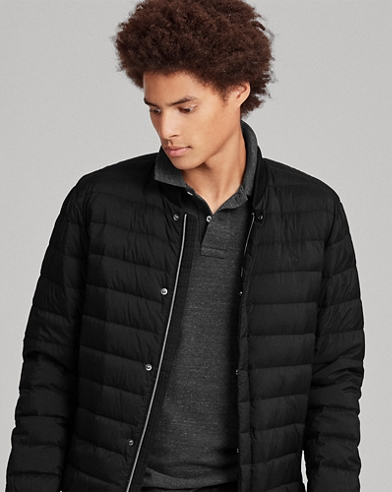 Packable Down Baseball Jacket
