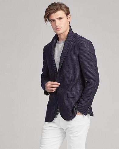 Polo Striped Wool Sport Coat