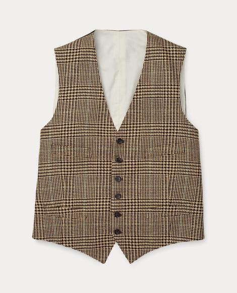 Glen Tartan Wool-Silk Vest