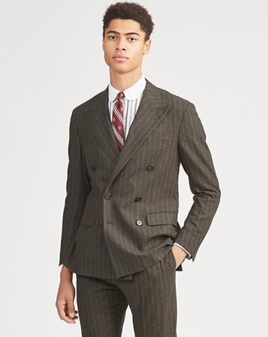 Veste de costume Polo laine rayée