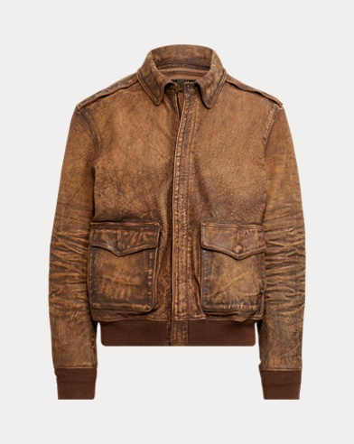eb6974144ffa Leather Bomber Jacket