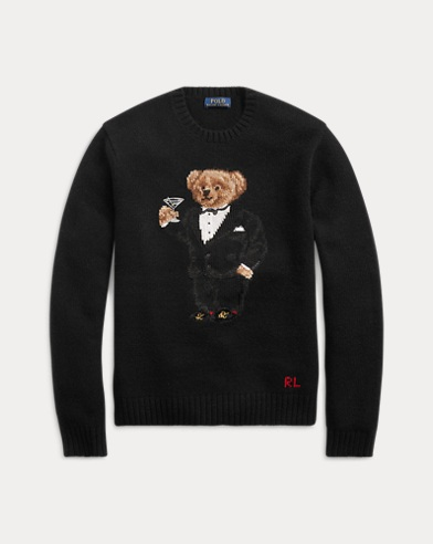 Martini Bear Wool Sweater