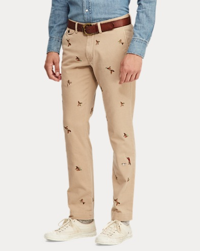 aa3a6ebd26db Slim Fit Embroidered Chino. 20% Off Selected Colours. Polo Ralph Lauren