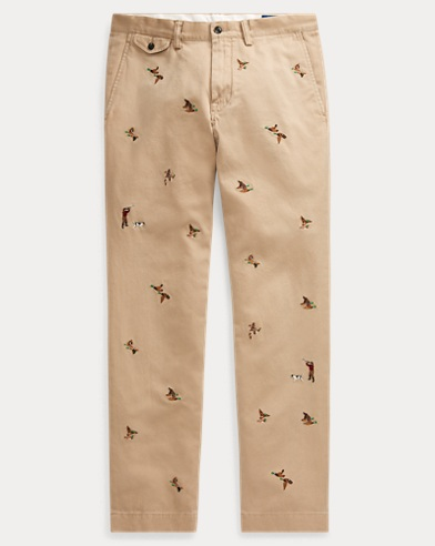 Slim Fit Embroidered Chino