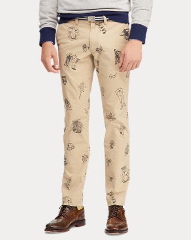 15796a726 Stretch Slim Fit Graphic Chino. 50% OFF. Polo Ralph Lauren