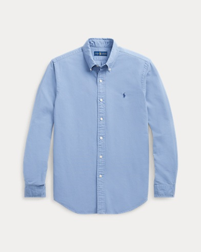 91f45ef62494c1 color (3)  Bastille Blue · Service Green · Surrey Tan. Polo Ralph Lauren. Classic  Fit Oxford Shirt