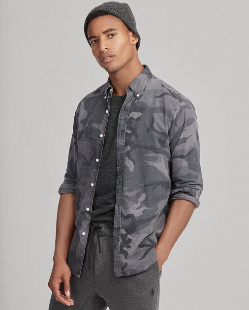 a177656f Polo Ralph Lauren Classic Fit Camo Oxford Shirt 1