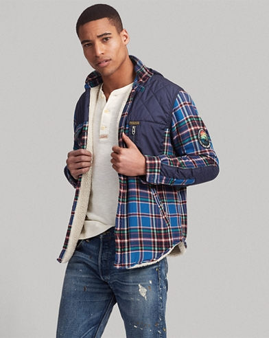 Plaid Hooded Shirt Jacket