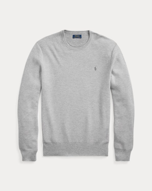 Cotton Mesh Crewneck Jumper