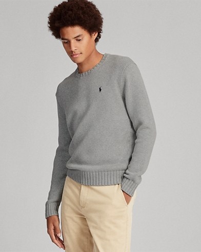 Jersey de algodón con cuello redondo