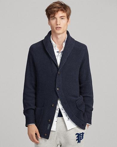Cardigan à col châle en coton