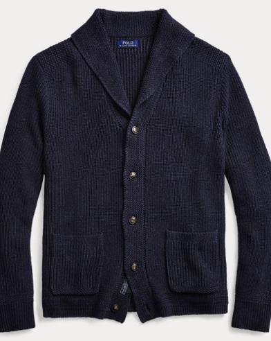 ff7619be66 Cotton Shawl-Collar Cardigan. Polo Ralph Lauren