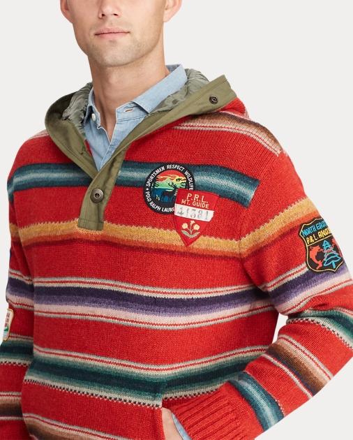 Polo Ralph Lauren Sudadera tipo sarape con capucha de lana 6 d05e6ccad35