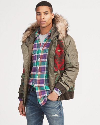 Faux-Fur-Trim Hybrid Jacket