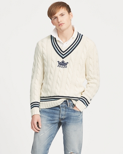 Cotton-Blend Cricket Jumper