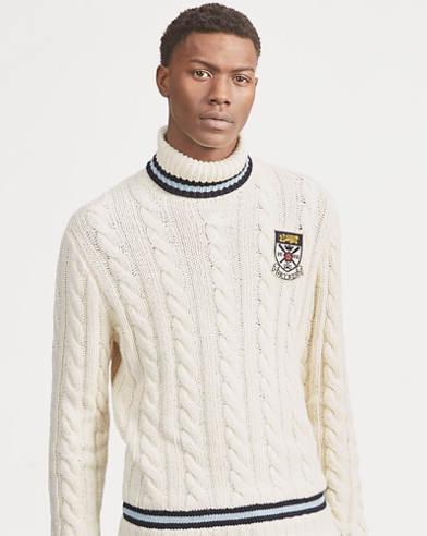 Cable-Knit Cricket Turtleneck