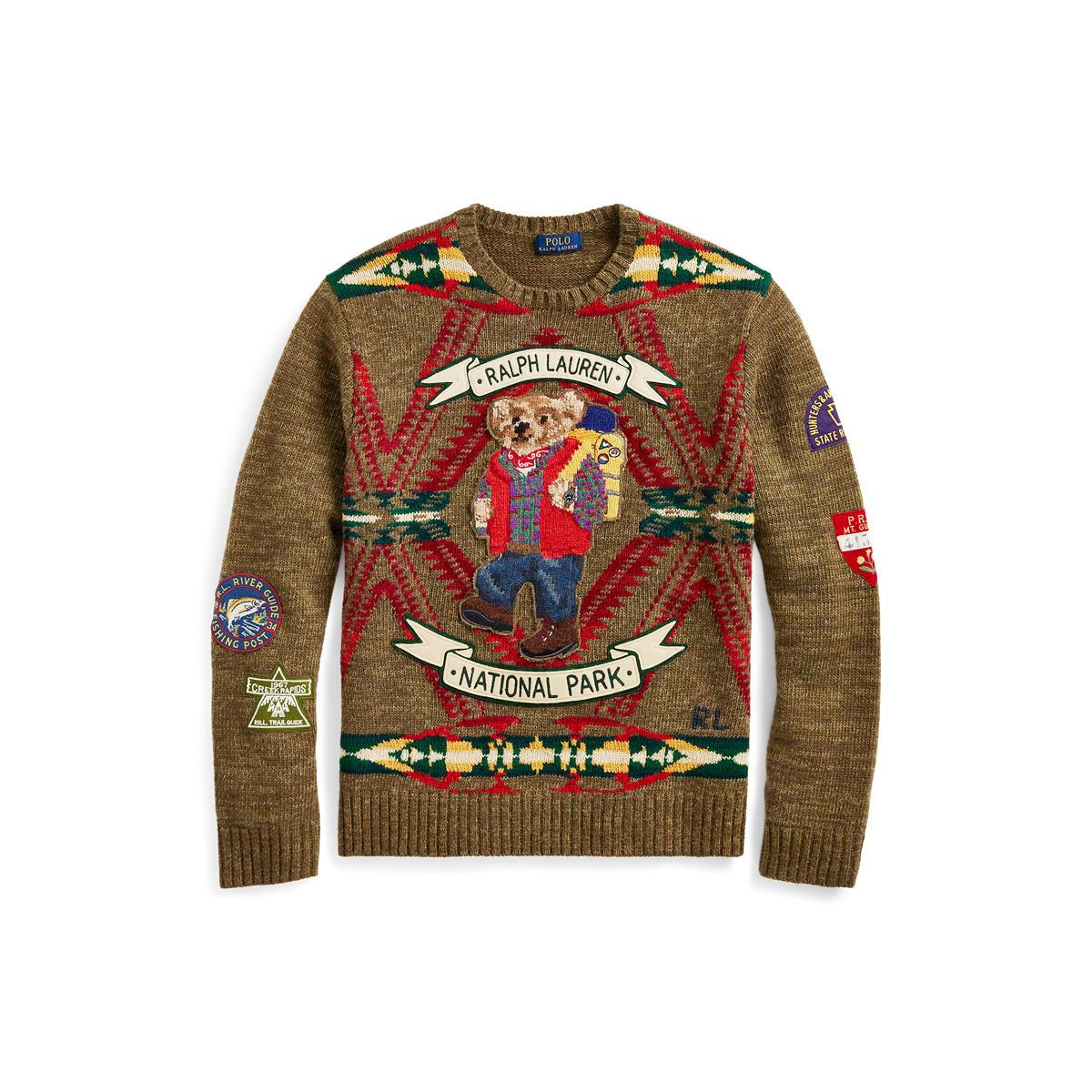 6c9af7fef Hiking Bear Wool Sweater