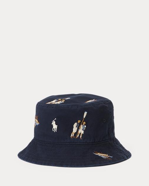 d86cd3d47259a Polo Ralph Lauren Reversible Chino Bucket Hat 1