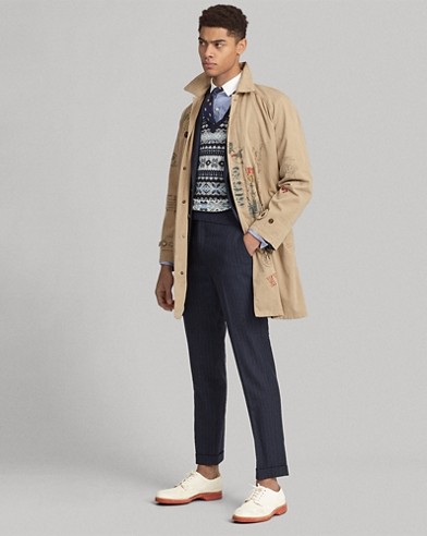 Cotton Twill Balmacaan Coat