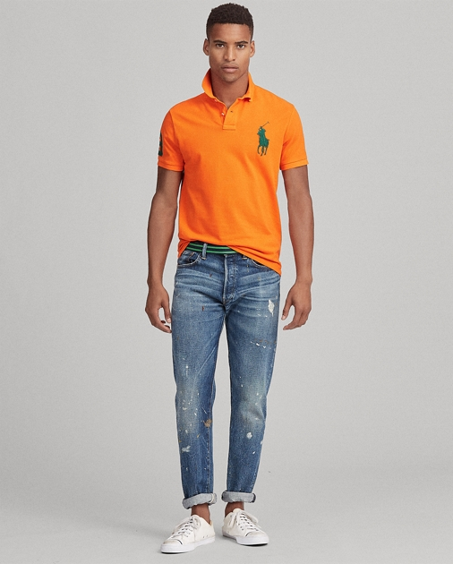 55c9594a8 Polo Ralph Lauren Custom Slim Fit Mesh Polo 1