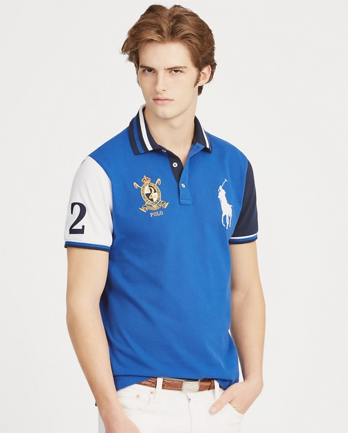 dd01593f0 Custom Slim Fit Mesh Polo
