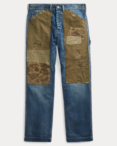 Patchwork Carpenter Jean