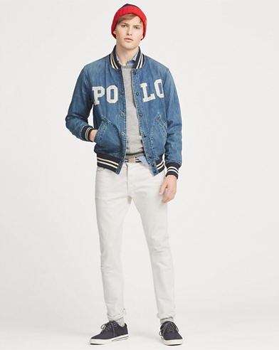Varsity-Inspired Denim Jacket