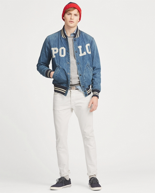 2c57709aafbd Polo Ralph Lauren Varsity-Inspired Denim Jacket 1