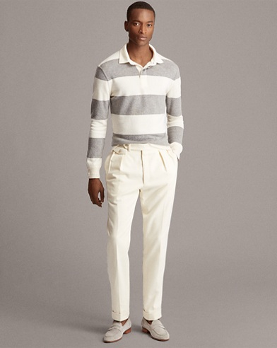 Striped Cashmere Rugby Sweater