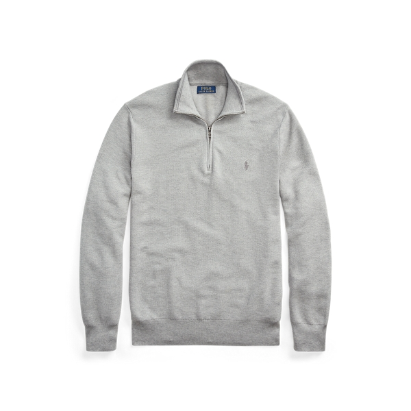 폴로 랄프로렌 Polo Ralph Lauren Cotton Quarter-Zip Sweater,Andover Heather