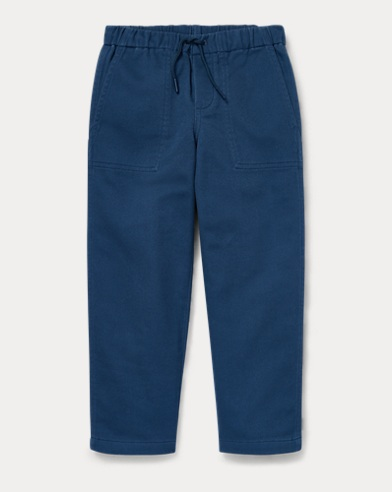 Pantaloni affusolati in cotone stretch