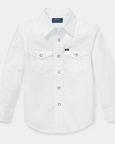 Cotton Oxford Western Shirt