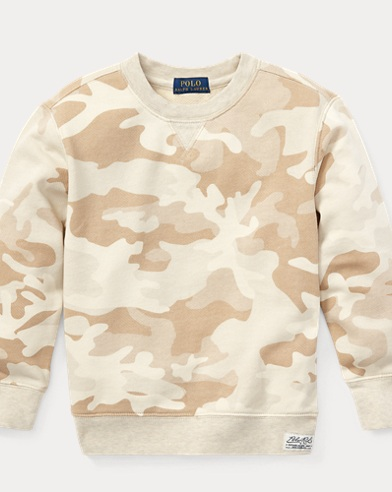 Camouflage-Pullover aus Twill