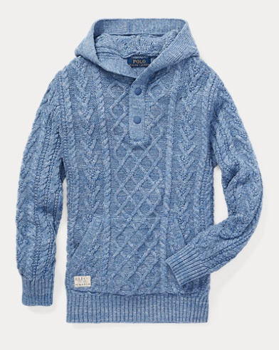 Aran Cotton Hooded Jumper