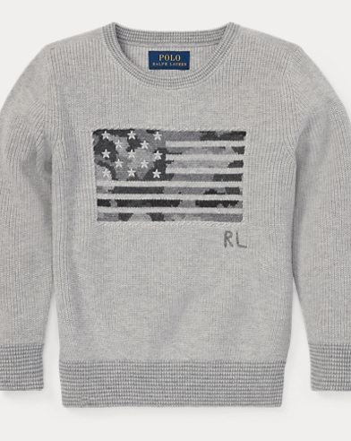 Camo Flag Cotton Sweater