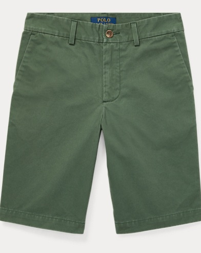 Slim Fit Cotton Chino Short
