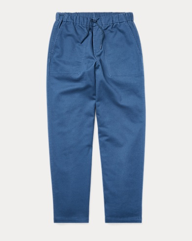 Tapered Stretch Cotton Trouser