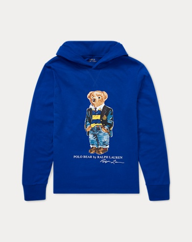 Kapuzen-T-Shirt mit Polo Bear