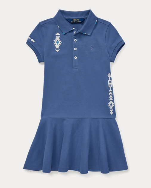 c14c4c0246 Embroidered Mesh Polo Dress
