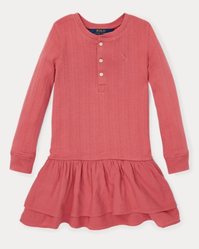 Cotton Henley Dress