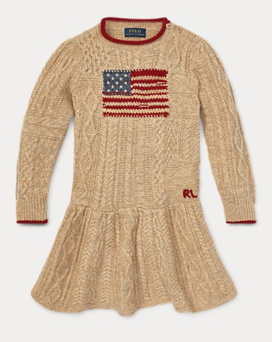 Flag Cable-Knit Dress