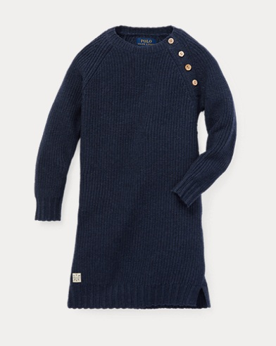 Abito in maglia di cotone a coste