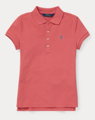 Polo in piqué stretch