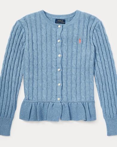 Cotton Peplum Cardigan