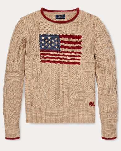 Flag Cable-Knit Jumper