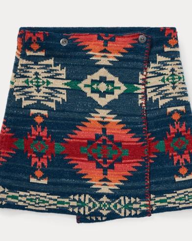 Reversible Wrap Jacquard Skirt