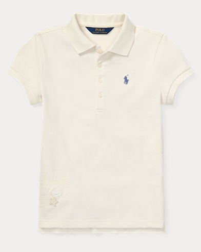 Flag Stretch Mesh Polo